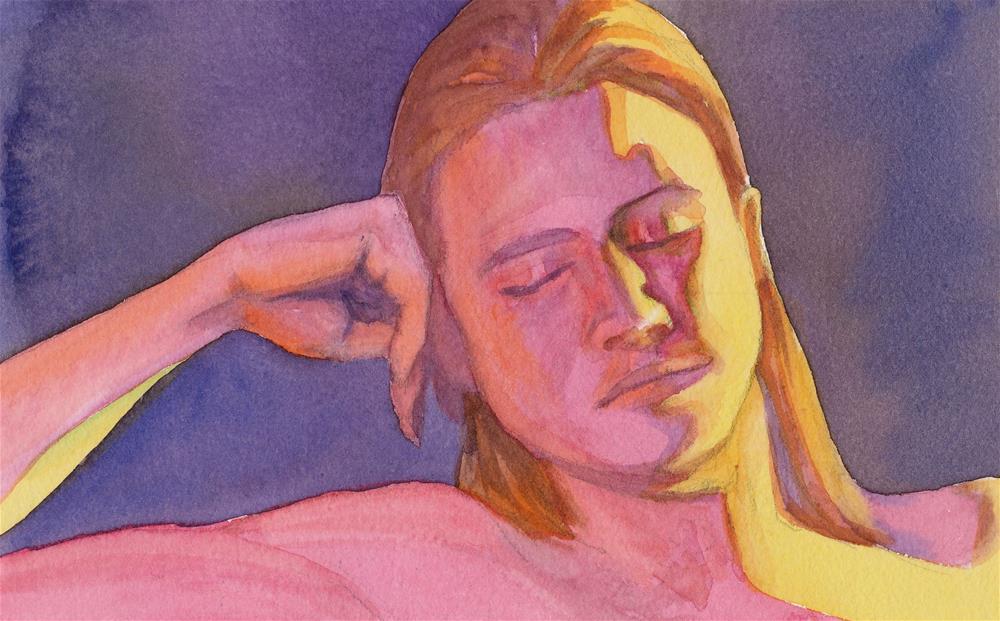 """Portrait of Amie"" original fine art by Mark Allison"