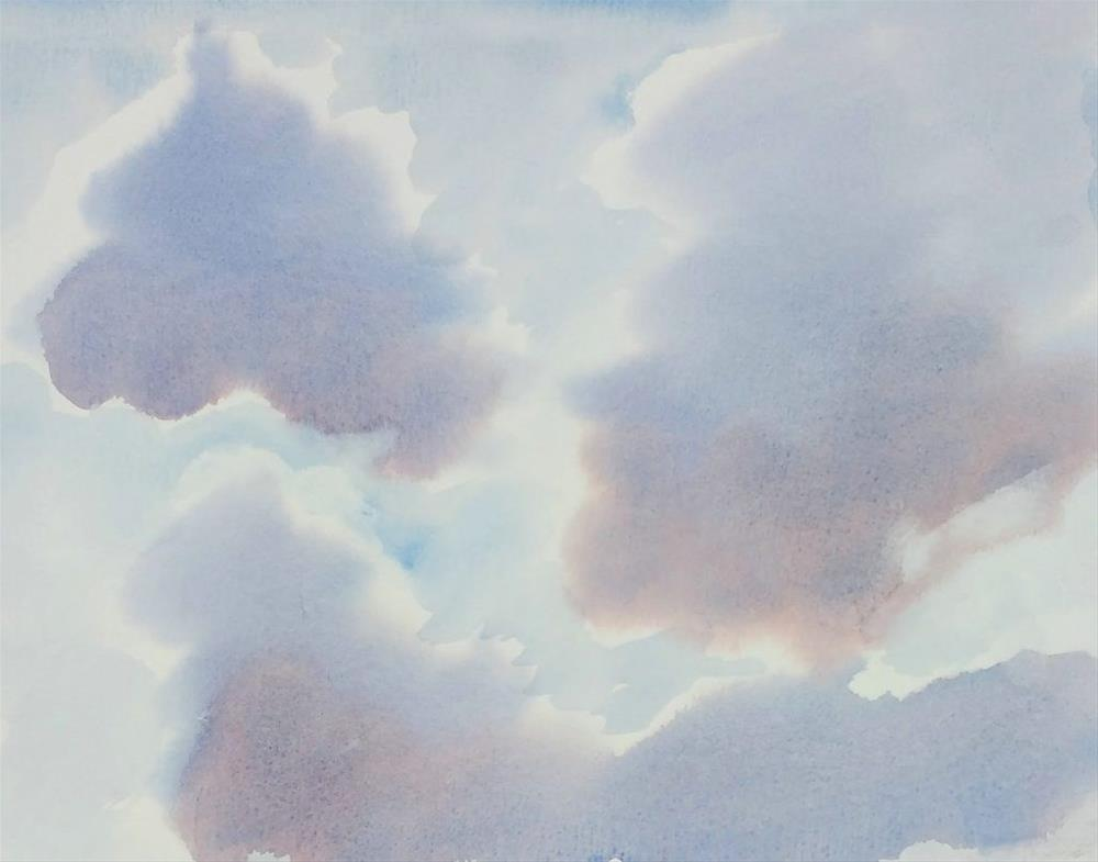 """Cloud Study"" original fine art by Maria Peagler"