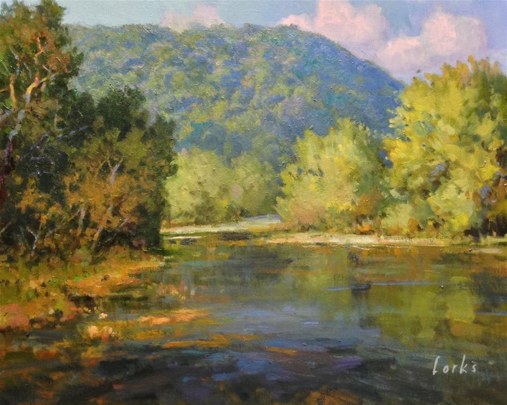 """Montell Creek Crossing"" original fine art by David Forks"