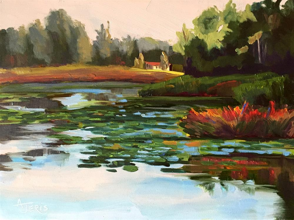 """Autumn Pond"" original fine art by Andrea Jeris"