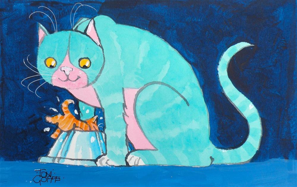 """He's a Natural"" original fine art by Toni Goffe"