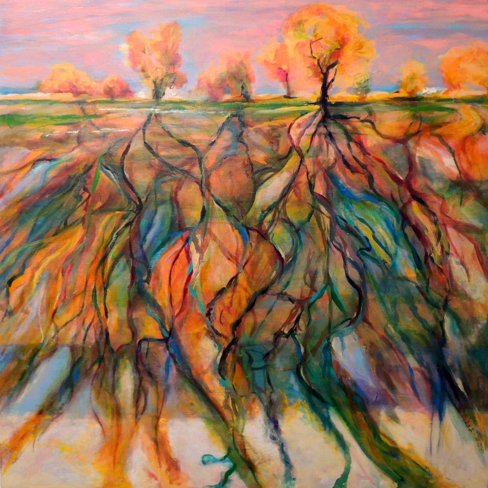 """Roots"" original fine art by Mary Schiros"