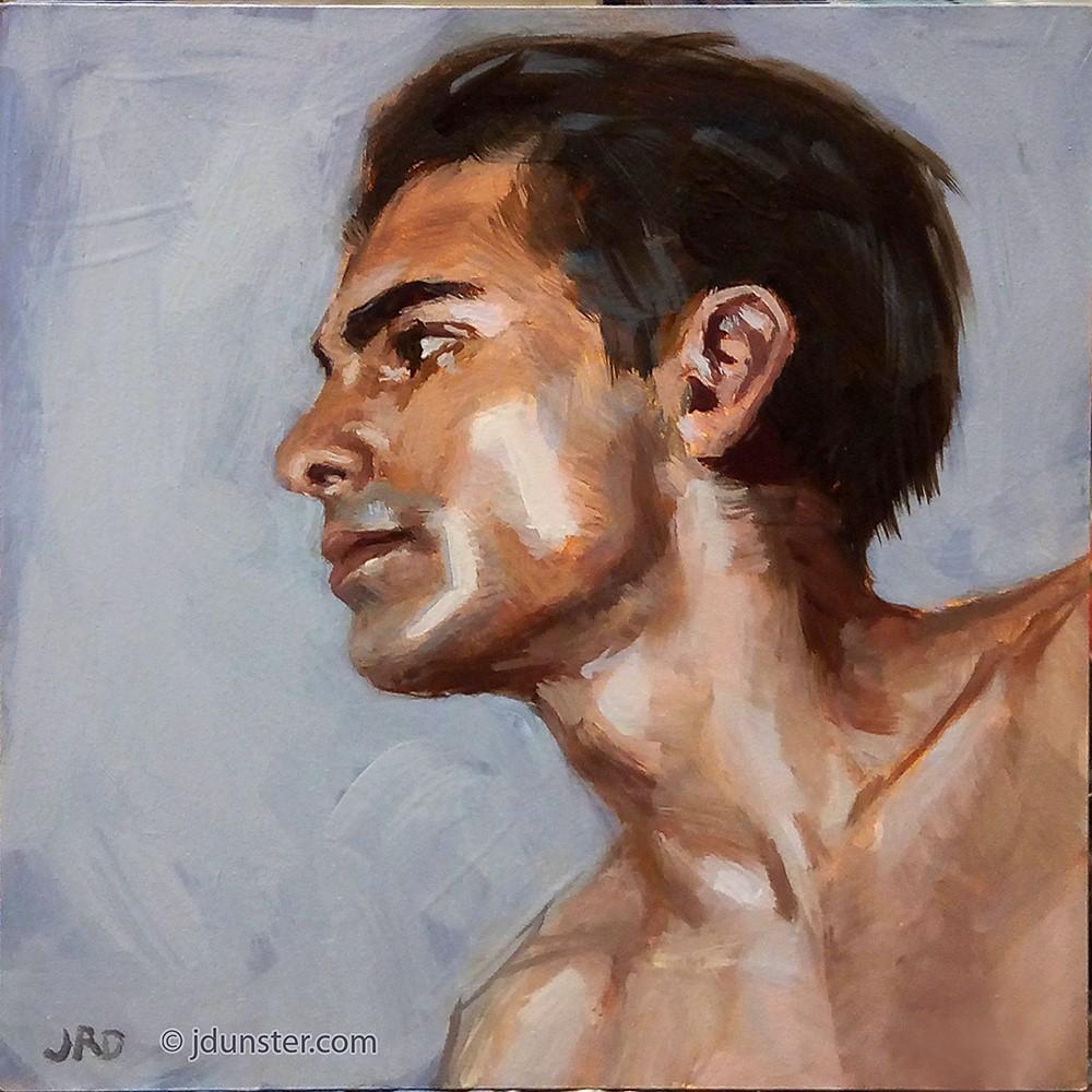 """Profile Study"" original fine art by J. Dunster"