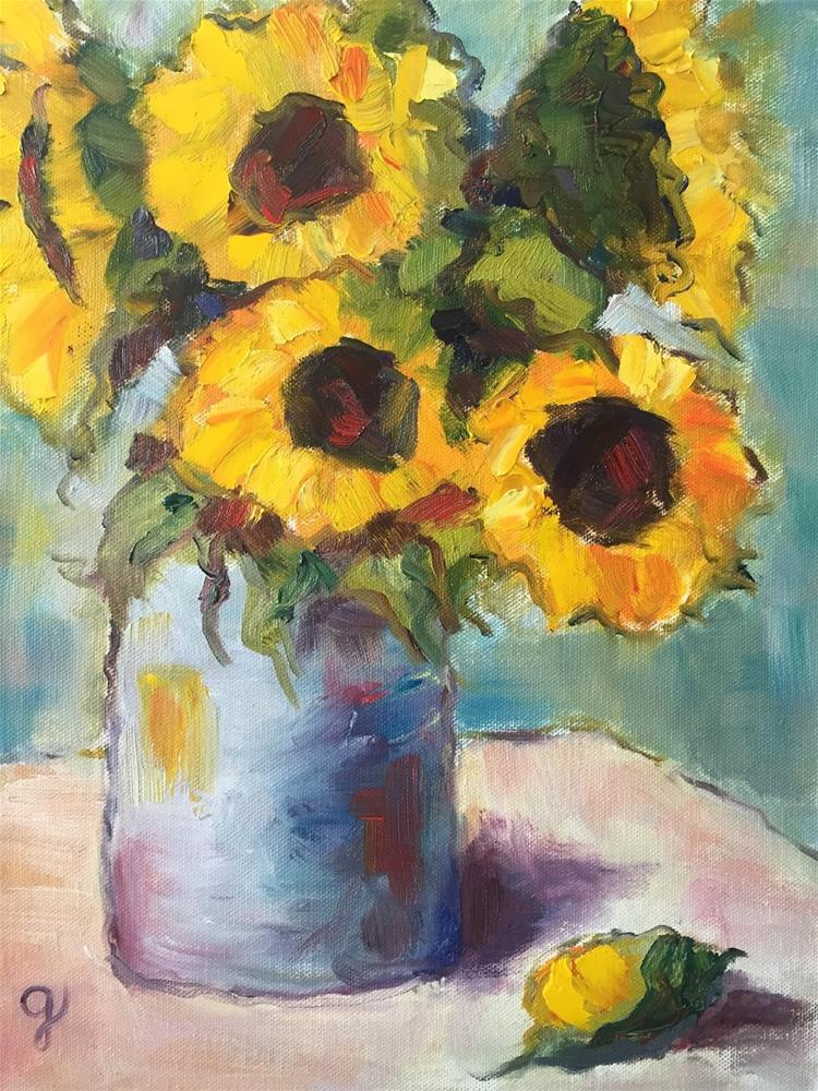 """Friday Flowers"" original fine art by Gayle Lambeth"