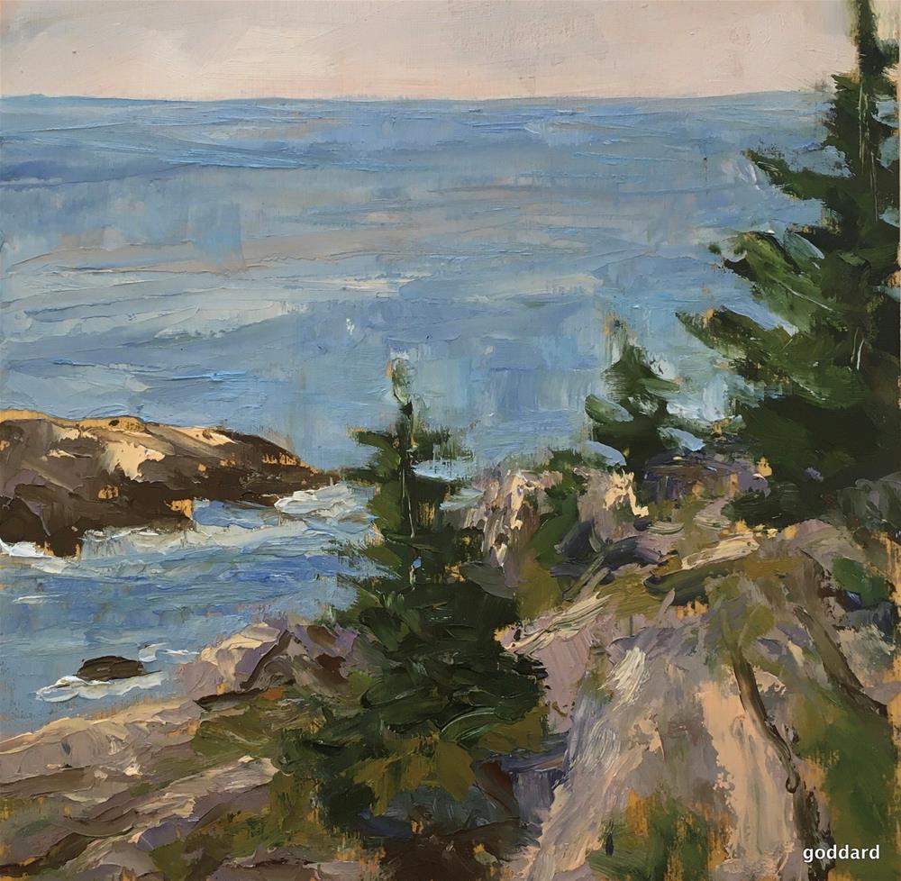 """Cliff View"" original fine art by Shari Goddard Shambaugh"