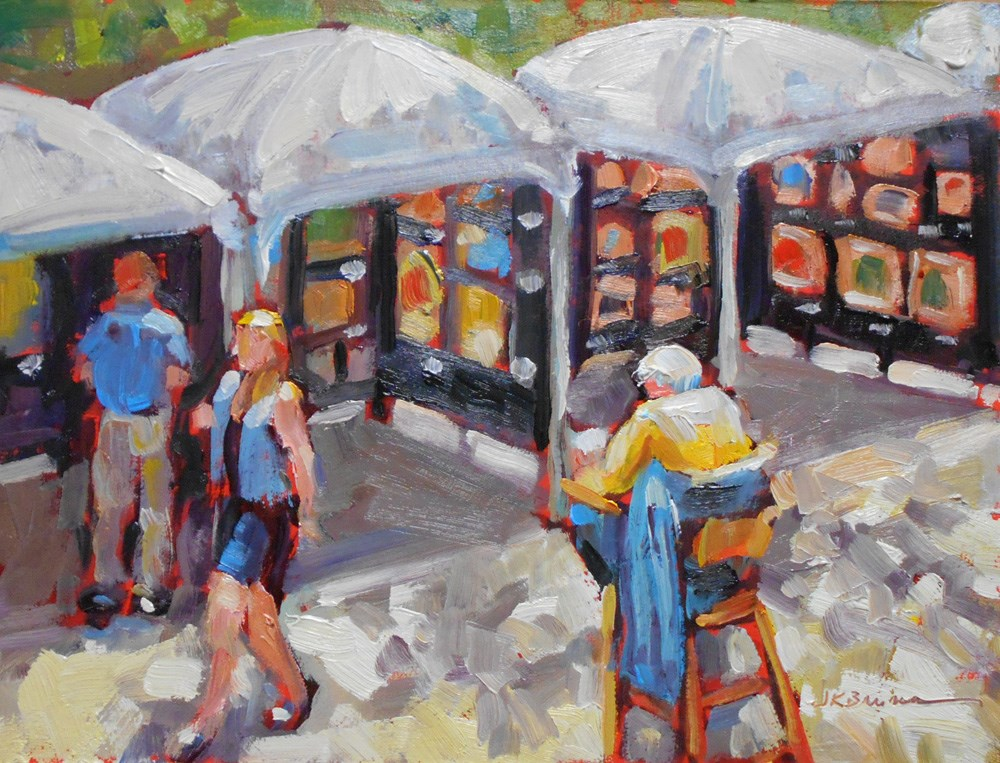 """""""Rittenhouse Square Art Show"""" original fine art by Jeanne Bruneau"""
