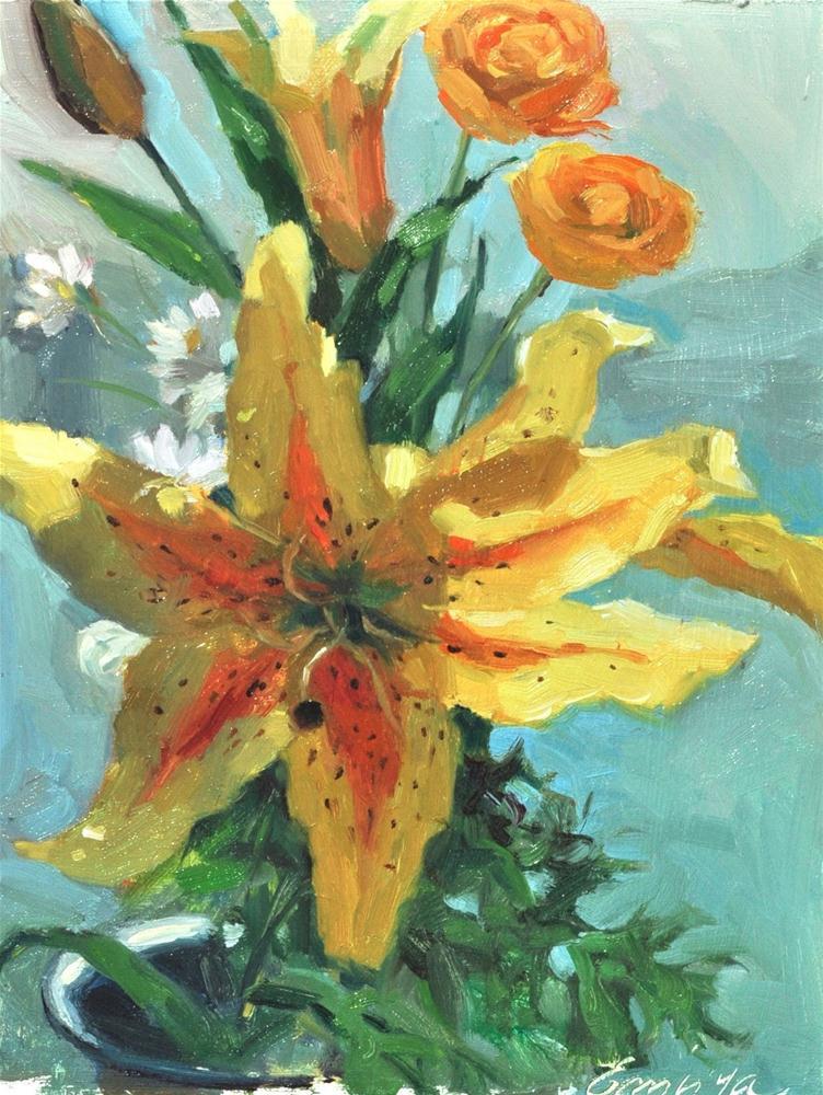 """Sunny Lillies"" original fine art by Emiliya Lane"