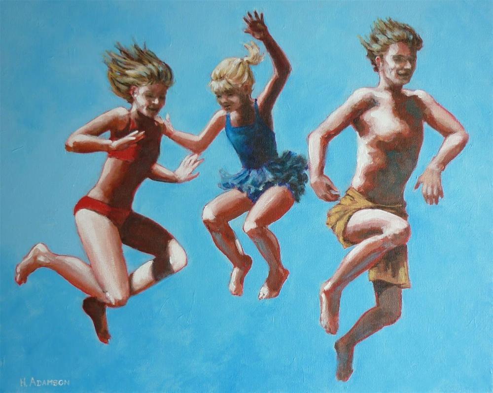 """""""Bala Summer: Last One In"""" original fine art by Helene Adamson"""