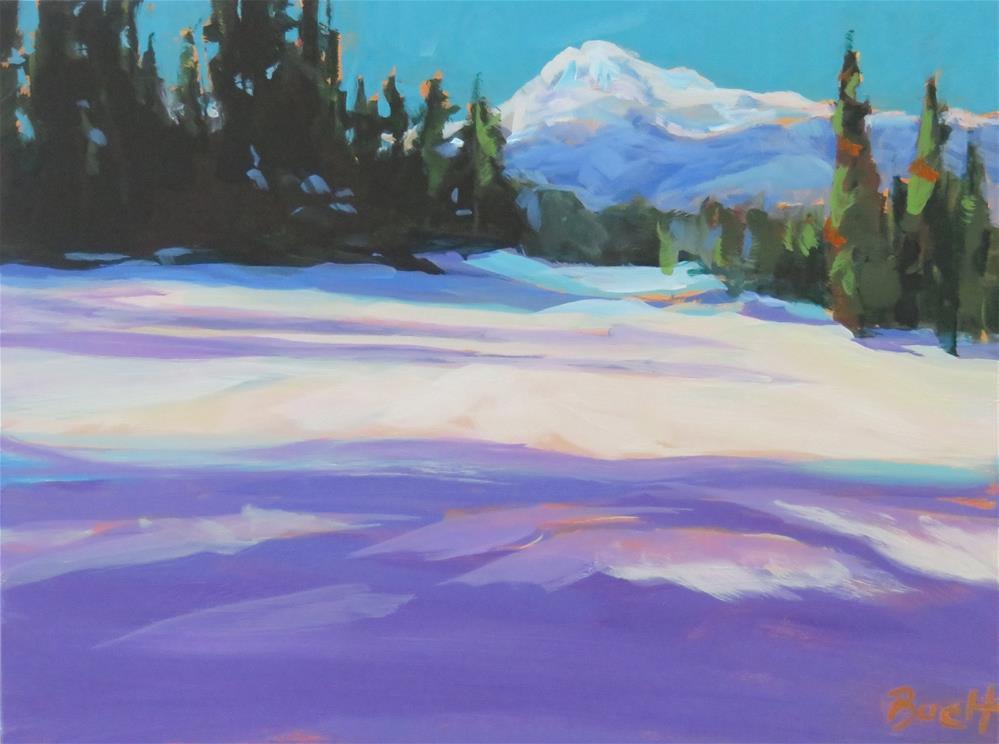 """""""Blue Skies At White Pass"""" original fine art by Shari Buelt"""