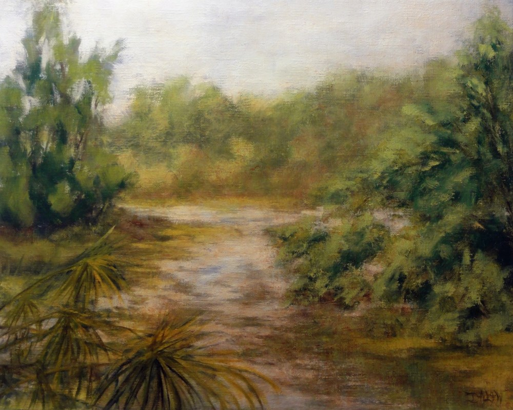 """Louisiana River Scene 2.0"" original fine art by Dalan Wells"