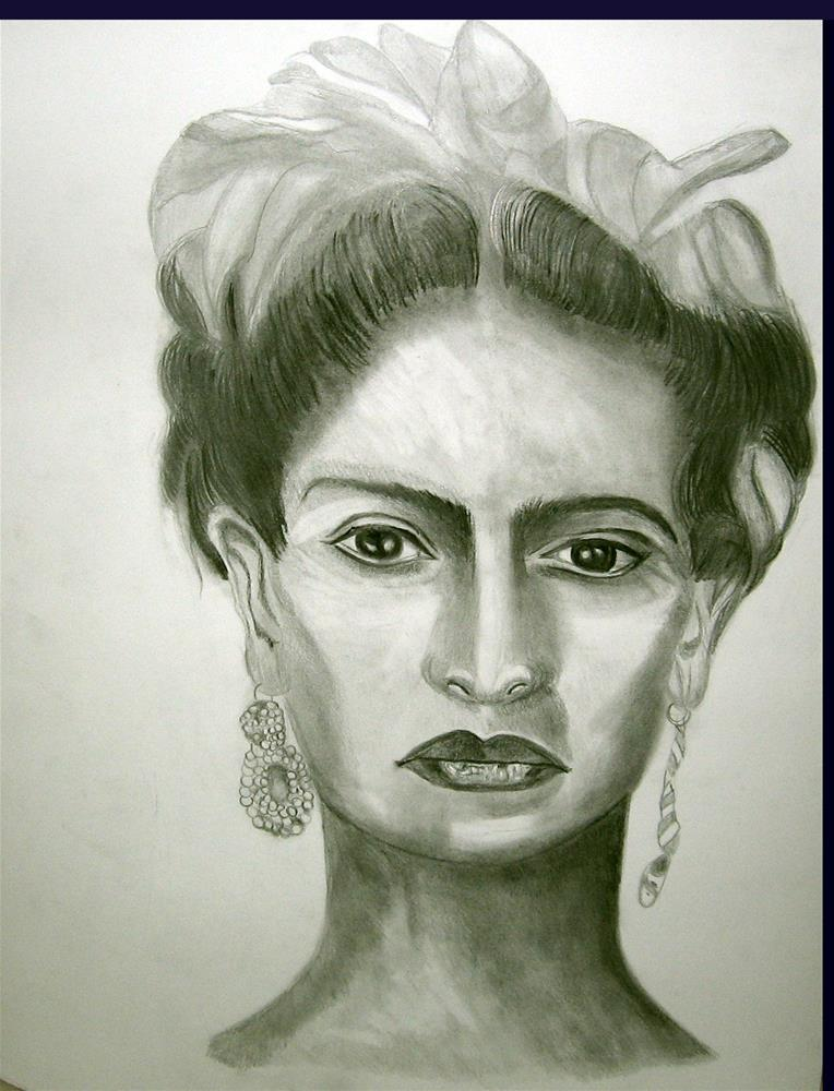 """Queen Kahlo"" original fine art by Terri Brown-Davidson"