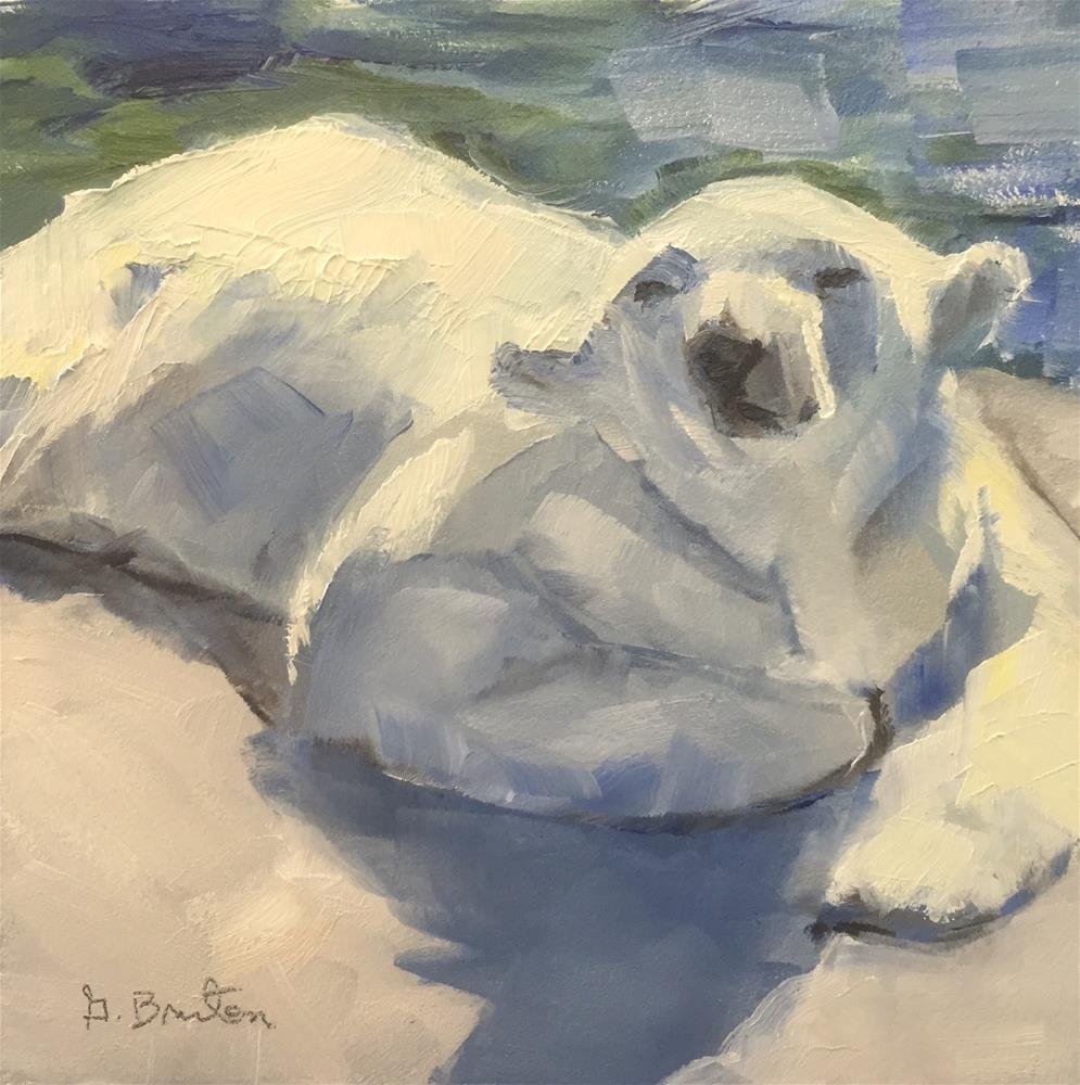 """Basking"" original fine art by Gary Bruton"
