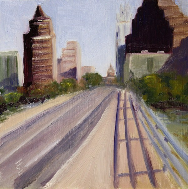 """Congress Bridge"" original fine art by Jane Frederick"