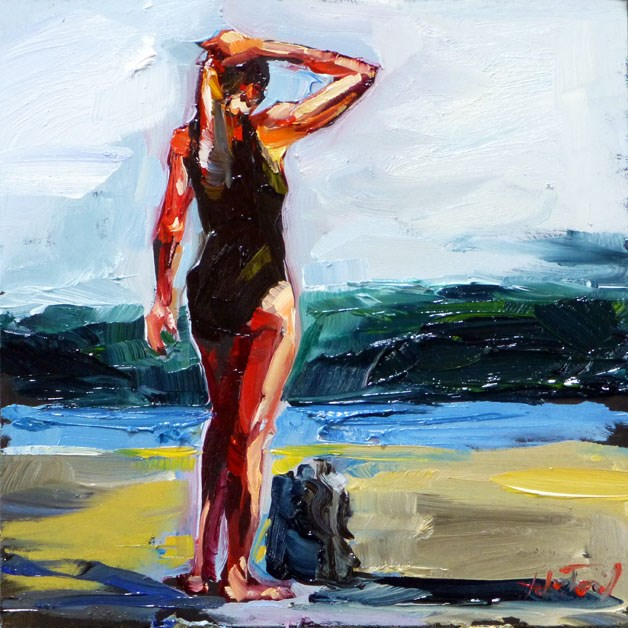 """bather"" original fine art by Jurij Frey"