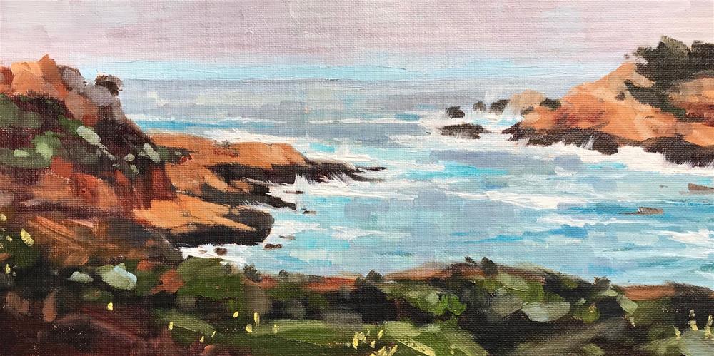 """""""Point Lobos"""" original fine art by Sharon Schock"""