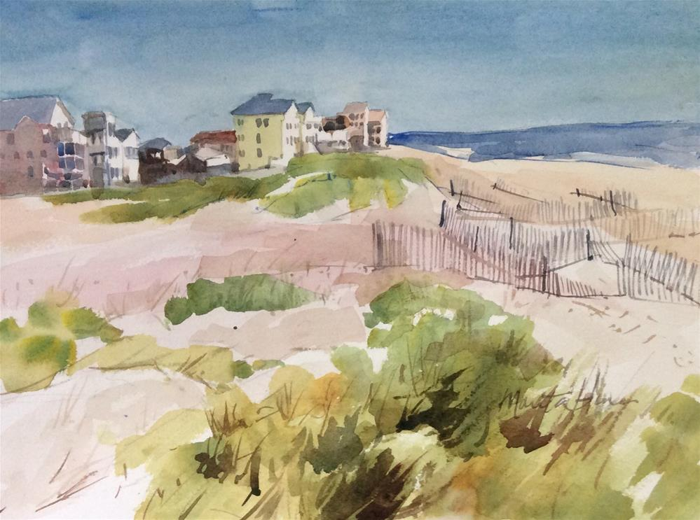 """Out of Season - (OBX)"" original fine art by Marita Hines"