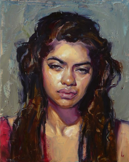 """Scrape"" original fine art by John Larriva"