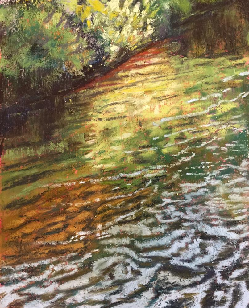 """Reflections in the creek"" original fine art by Natasha Ramras"