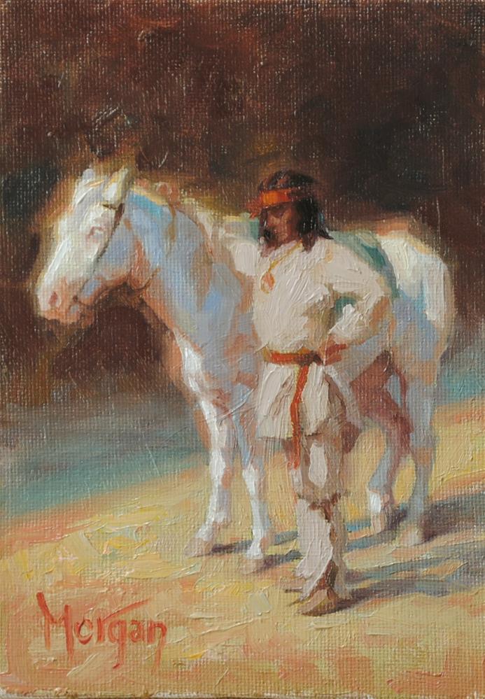 """Native American Memories"" original fine art by Cecile W. Morgan"