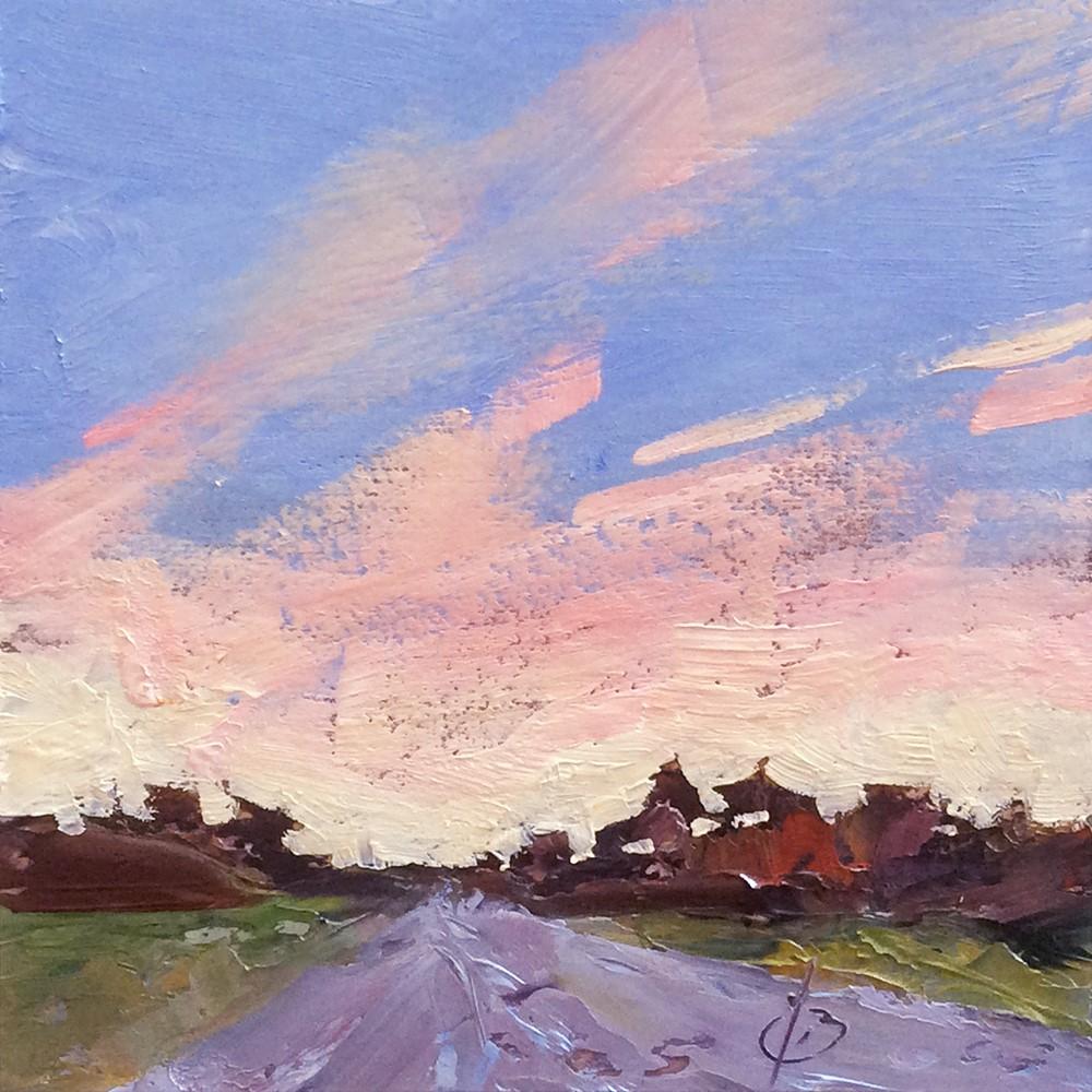 """OPEN ROAD, MAGIC SKY"" original fine art by Tom Brown"
