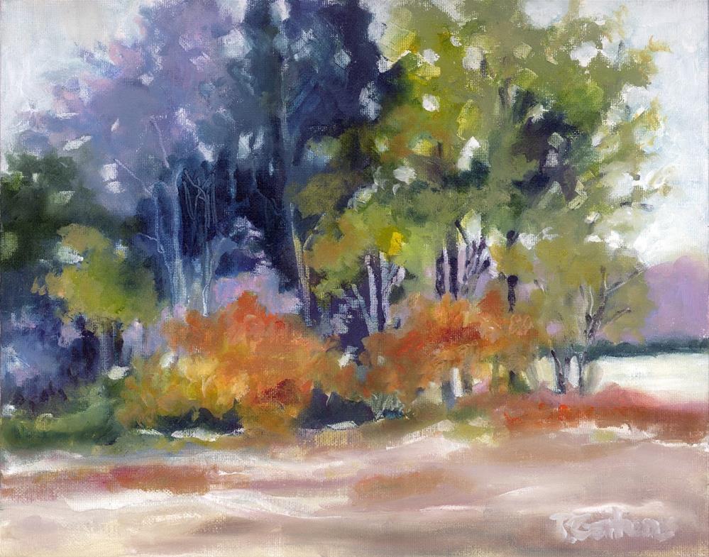 """Autumn by the Lake"" original fine art by Pamela Gatens"