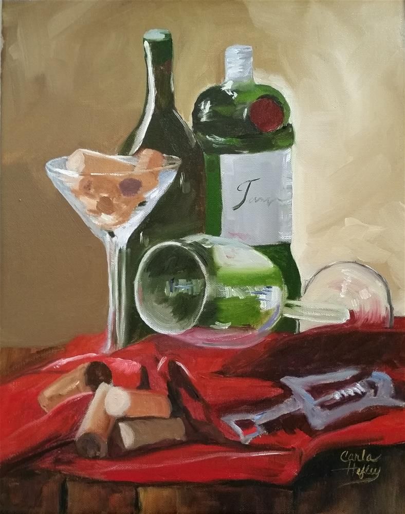 """Cocktail Hour"" original fine art by Carla Hefley"