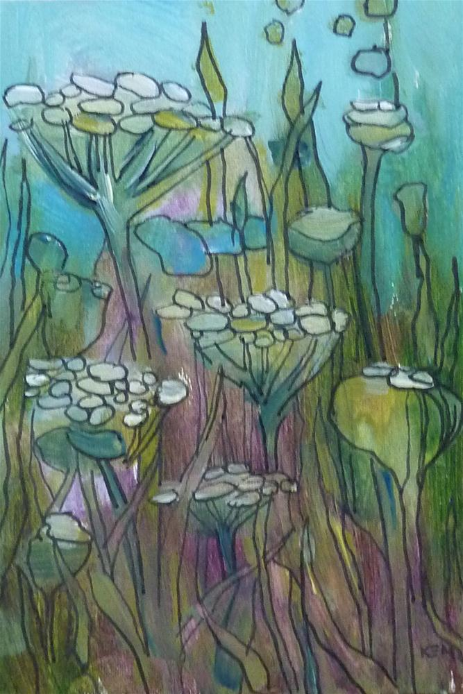 """Queen Annes lace I"" original fine art by Karen Margulis"