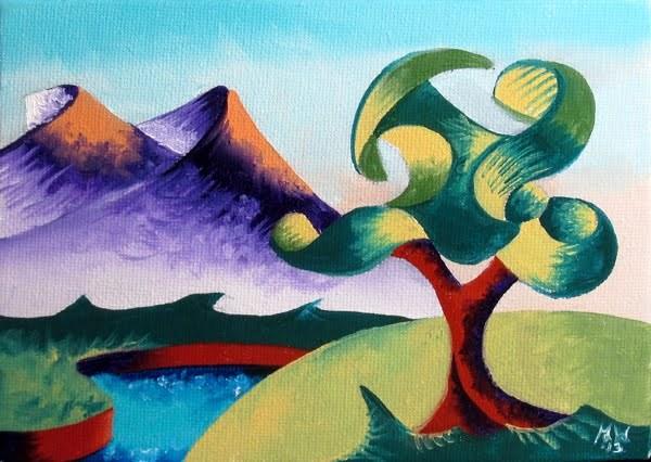 """""""Mark Webster - Abstract Landscape Oil Painting 2.6.13"""" original fine art by Mark Webster"""