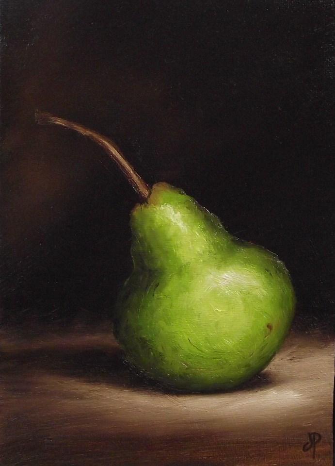 """Packham Pear"" original fine art by Jane Palmer"
