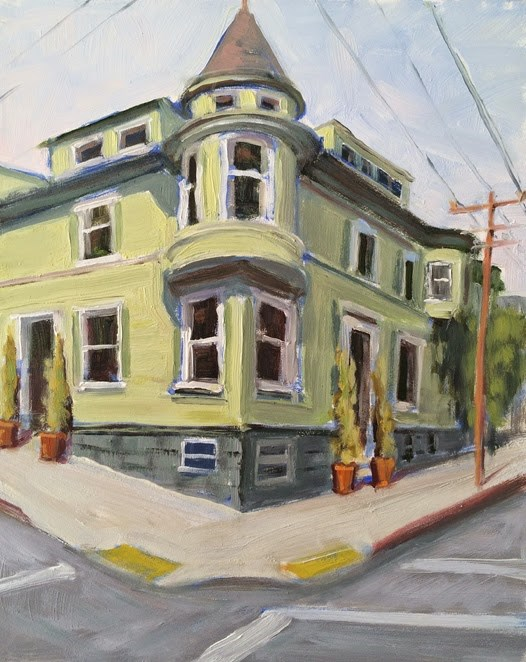 """On Hayes Street"" original fine art by Deborah Newman"