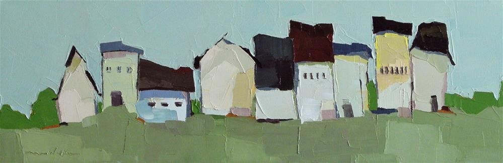 """""""Little Village"""" original fine art by Donna Walker"""