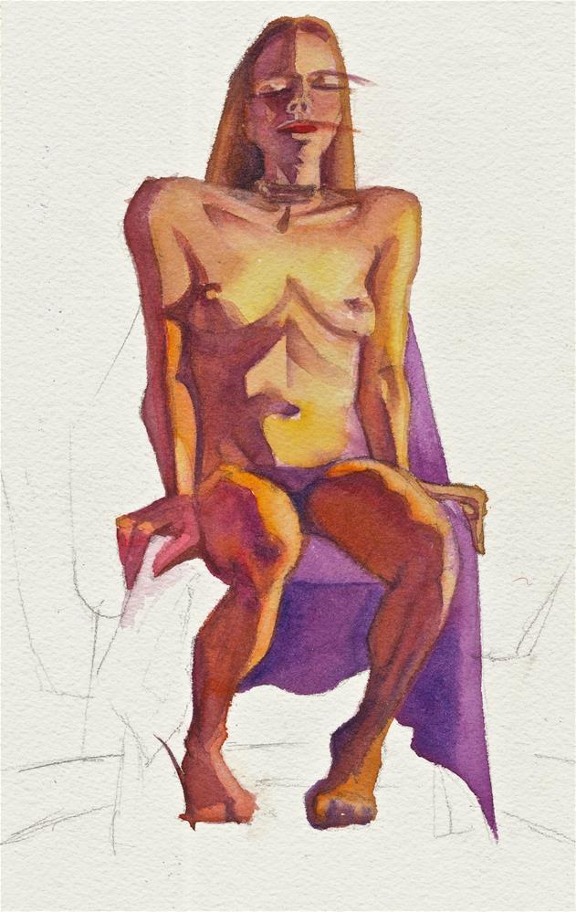 """Model A."" original fine art by Mark Allison"