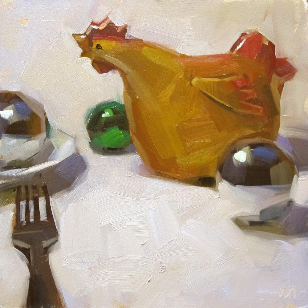 """Hysterical Hen"" original fine art by Carol Marine"