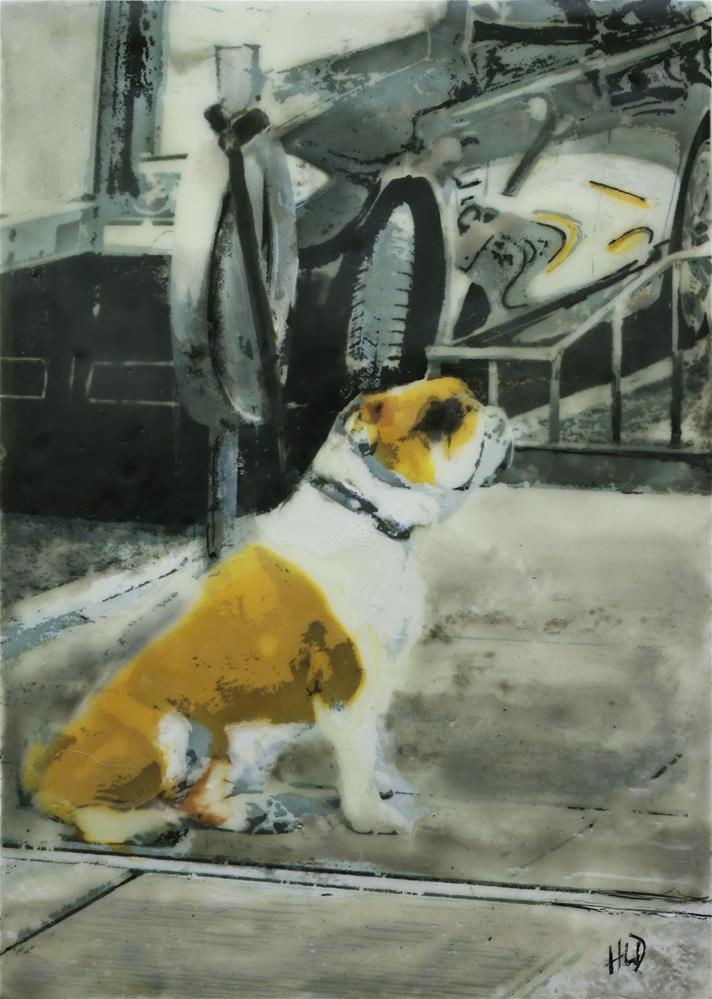 """Waiting for My Master"" original fine art by Heather Douglas"