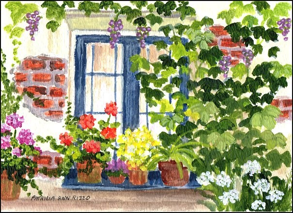 """Garden Window"" original fine art by Patricia Ann Rizzo"