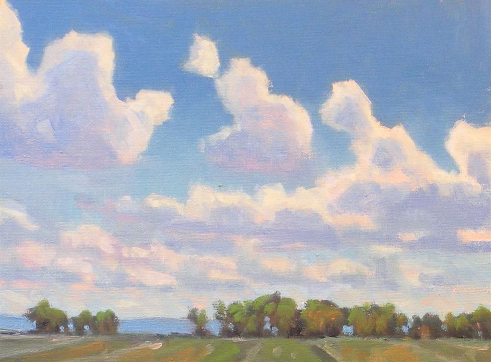 """Land and Sky"" original fine art by David Forks"