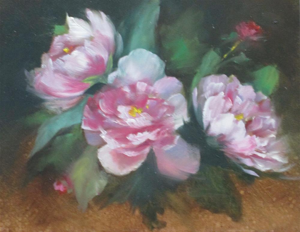 """""""Pink Peonies"""" original fine art by Barbara Wagner"""