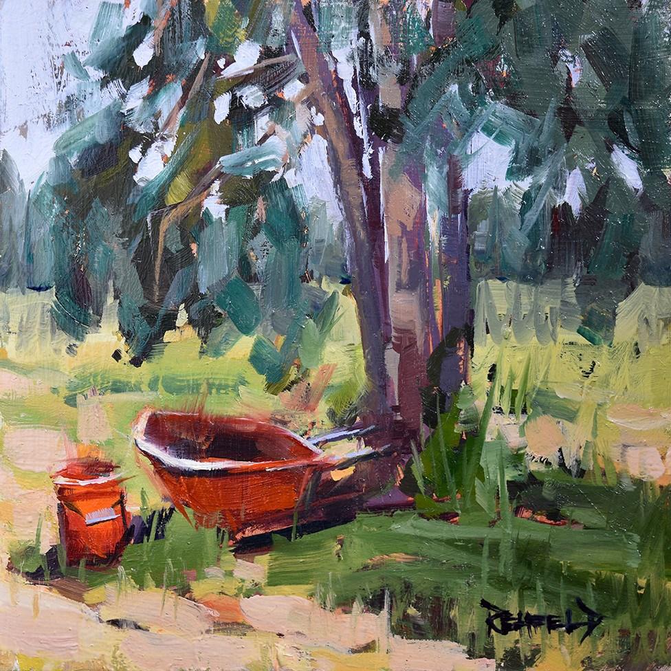 """Farm Tools"" original fine art by Cathleen Rehfeld"