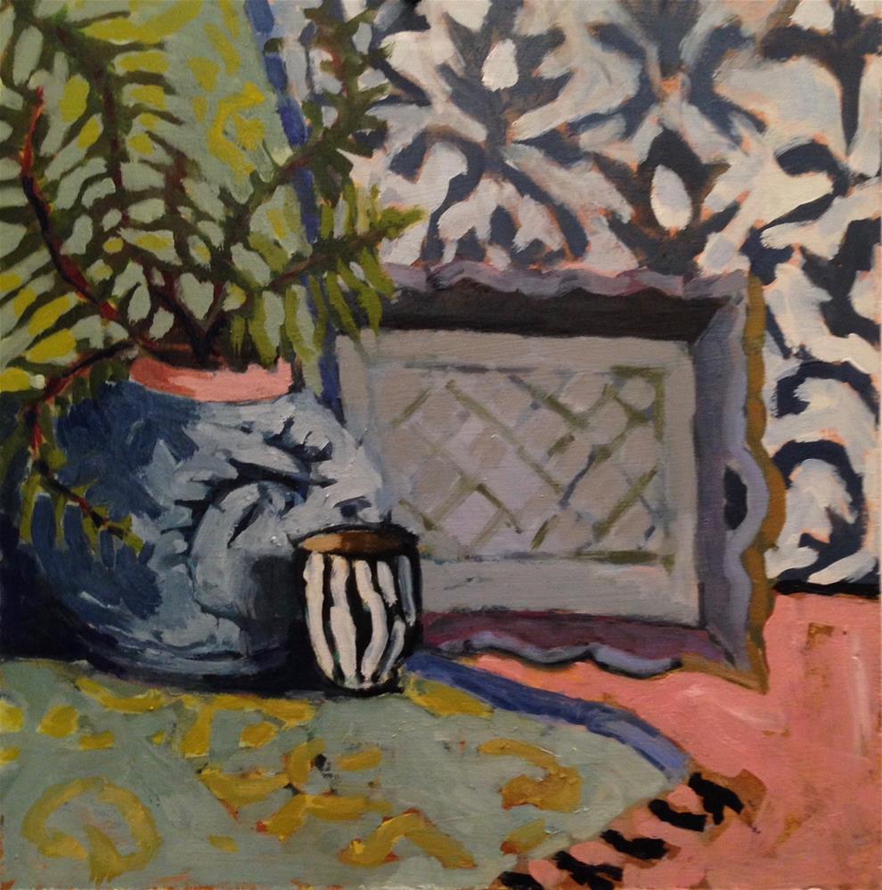 """Tassels or Pom Poms"" original fine art by Pamela Hoffmeister"