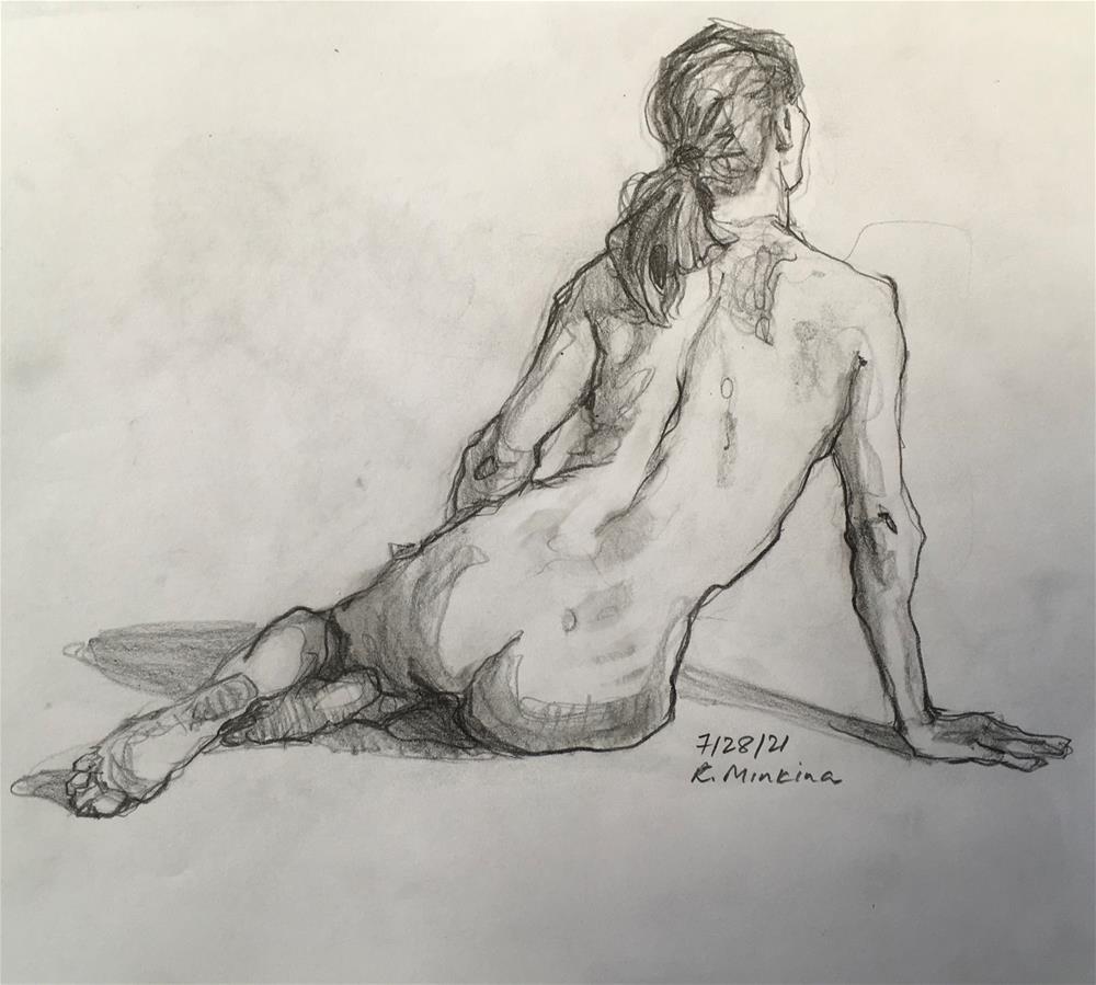 """Figure84"" original fine art by Katya Minkina"
