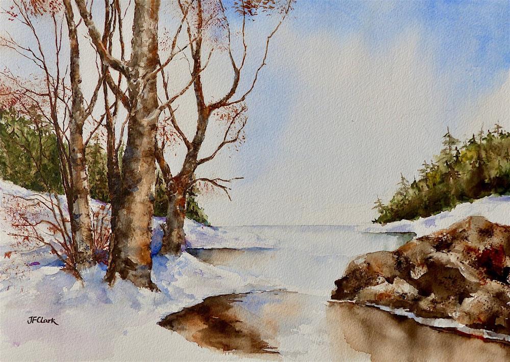 """Northern Winter"" original fine art by Judith Freeman Clark"