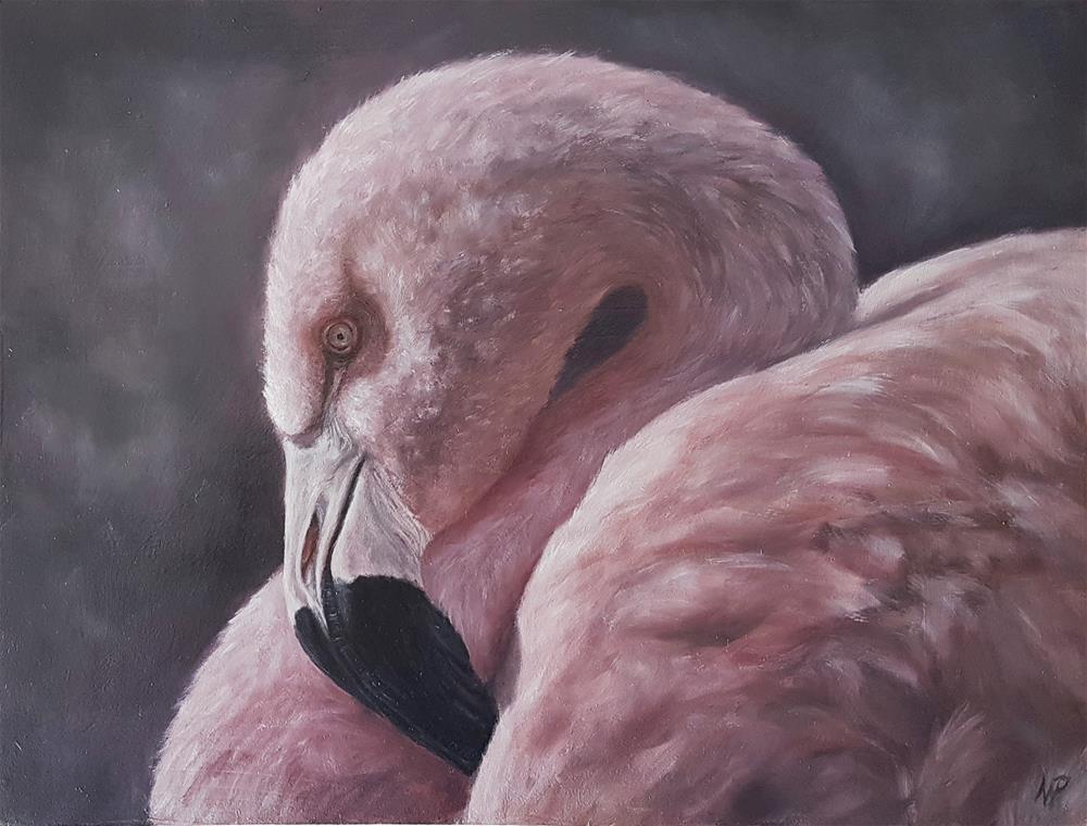 """Flamingo "" original fine art by Nikolina Primorac"