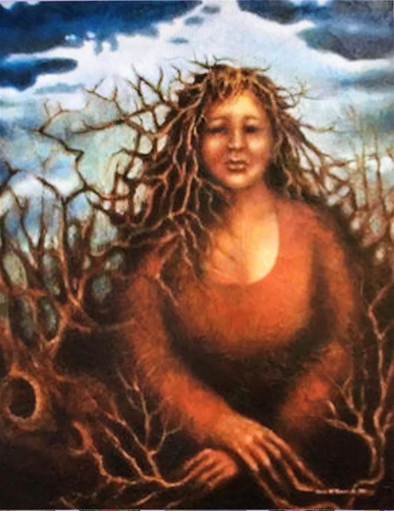 """Earth Mother"" original fine art by Karen Roncari"