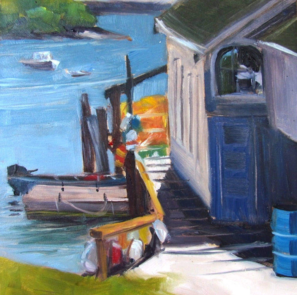 """Friendship Harbor Walkway"" original fine art by Lynne Schulte"