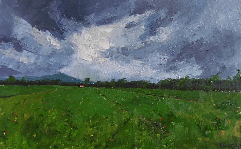 """Stormy clouds"" original fine art by Mrinal Bawkar"