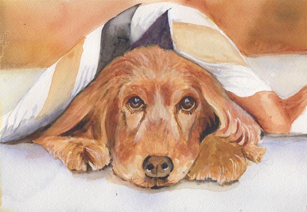 """GOLDEN"" original fine art by Bunny Griffeth"