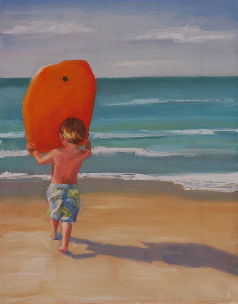 """blind determination"" original fine art by Carol Carmichael"