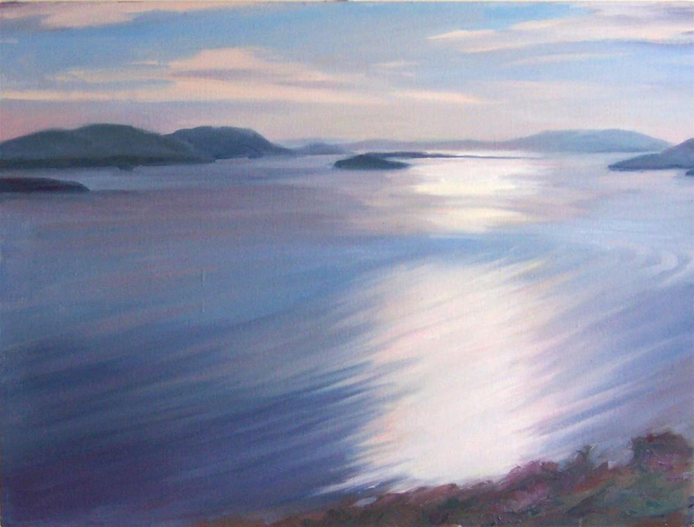 """Big View from Blanchard Mountain,seascape,oil on canvas,24x30,priceNFS"" original fine art by Joy Olney"