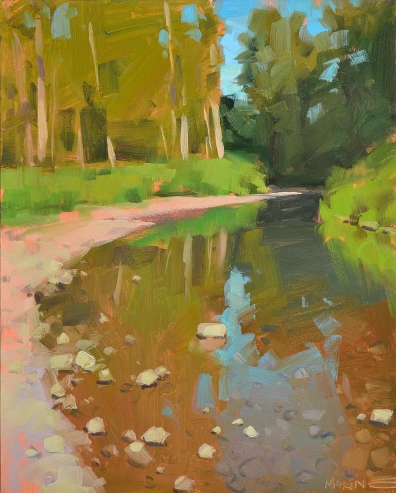 """Clearwater Creek"" original fine art by Carol Marine"