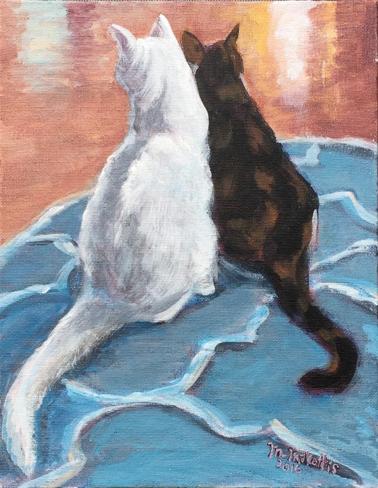 """""""Kitty's Kitties"""" original fine art by Michael Mikottis"""